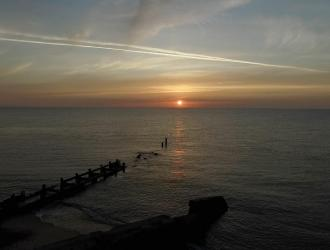 North Lowestoft Beach Sunrise
